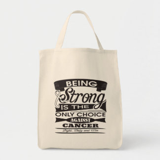 Retinoblastoma Strong Only Choice Against Cancer Canvas Bags