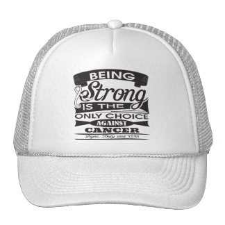 Retinoblastoma Strong Only Choice Against Cancer Mesh Hat