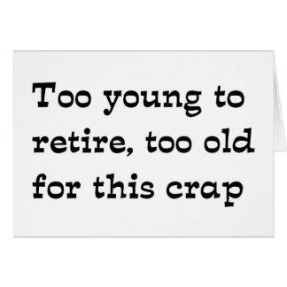 Retire Greeting Card