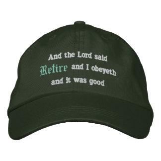 Retire Embroidered Baseball Cap