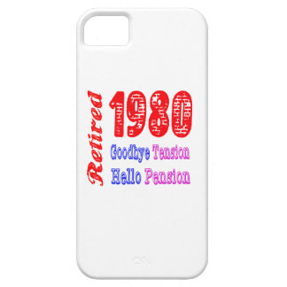 Retired 1980 Goodbye Tension Hello Pension iPhone 5 Cover