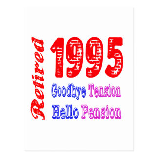 Retired 1995 Goodbye Tension Hello Pension Post Cards