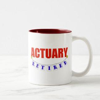 RETIRED ACTUARY Two-Tone COFFEE MUG