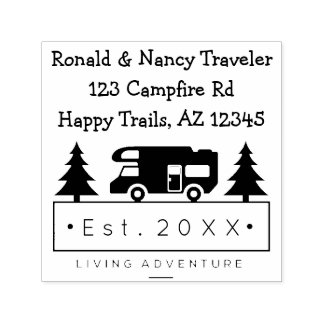 Retired Adventurers | Rustic Camping Outdoors Self-inking Stamp
