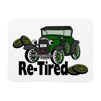 ReTired Antique Car Humor Rectangular Photo Magnet