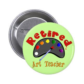 Retired Art Teacher 3D Embossed Style Pallet 6 Cm Round Badge