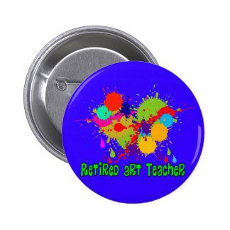 Retired Art Teacher Gifts 6 Cm Round Badge