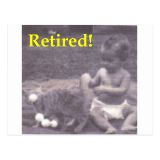 Retired Baby Postcard