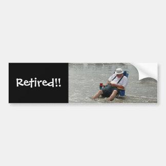 Retired!! Bumper Sticker