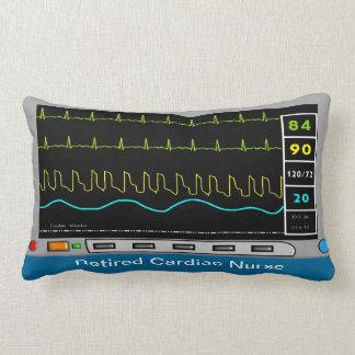 Retired Cardiac Nurse Pillow Monitor Design Throw Cushion