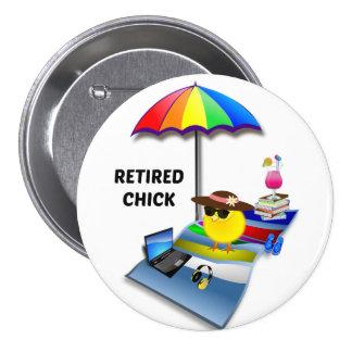 Retired Chick 2015 3 Inch Round Button