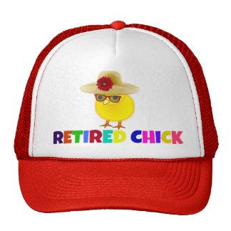 Retired Chick, colorful design Cap