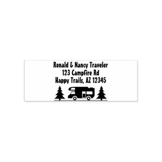 Retired Couple Travel Camper | Rustic Camping Self-inking Stamp