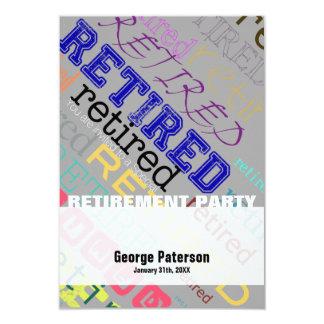 Retired Custom Retirement Party Invitation 1