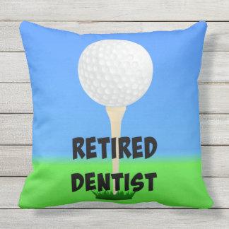 Retired Dentist - Golf Design Outdoor Cushion