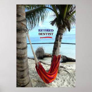 Retired Dentist, Hammock under the Palm Trees Poster