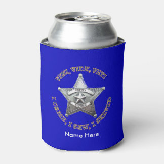 Retired Deputy Sheriff Shield Custom Can Cooler
