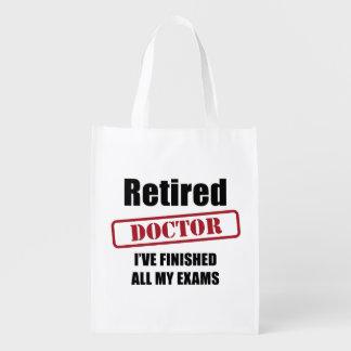 Retired Doctor Reusable Grocery Bag