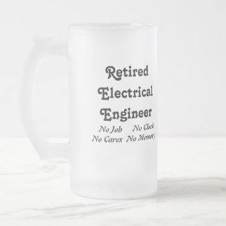 Retired Electrical Engineer Frosted Glass Mug
