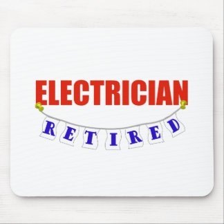 RETIRED ELECTRICIAN MOUSE PAD