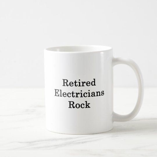 Retired Electricians Rock Coffee Mug