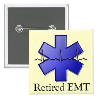 Retired EMT Gifts 15 Cm Square Badge