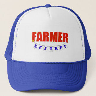 RETIRED FARMER TRUCKER HAT