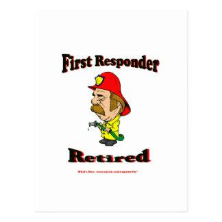 Retired Fire Responders Postcard