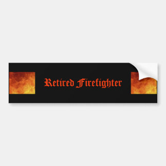 Retired Firefighter Bumper Sticker