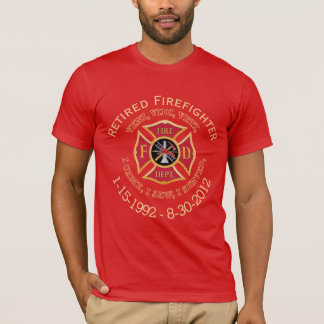 Retired Firefighter Custom VVV Maltese Cross Shirt