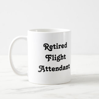 Retired Flight Attendant Basic White Mug