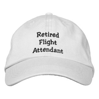 Retired Flight Attendant Embroidered Cap