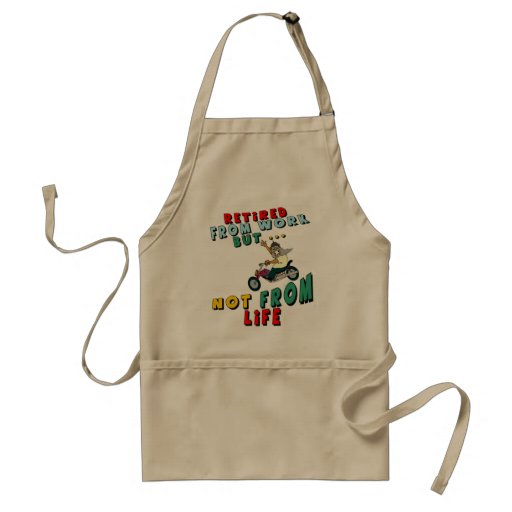 Retired From Work Apron