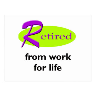 Retired From Work Postcards