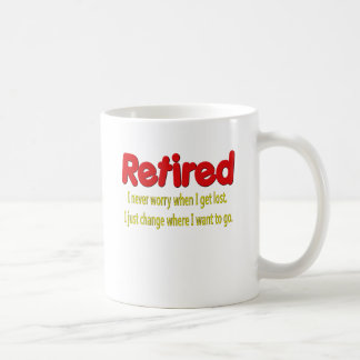 Retired Funny Saying Basic White Mug