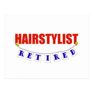 RETIRED HAIRSTYLIST POSTCARD