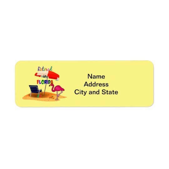 Retired in Florida Return Address Label