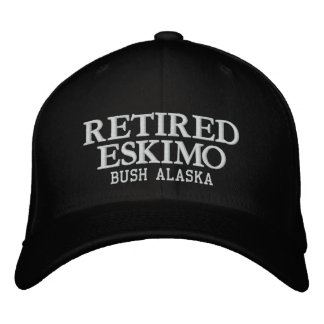 RETIRED INUPIAQ EMBROIDERED BASEBALL CAP