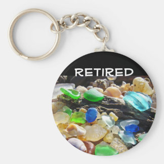 Retired Key Chain gift Seaglass Seashells Agates