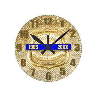 Retired Law Enforcement Award Clock