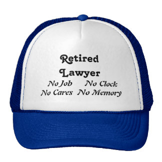 Retired Lawyer Mesh Hats