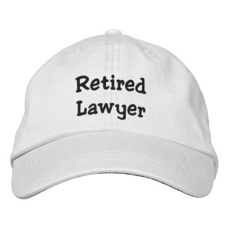 Retired Lawyer Personalized Adjustable Hat Embroidered Baseball Caps