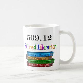 Retired Librarian 569.0 (Dewey Decimal System) Basic White Mug