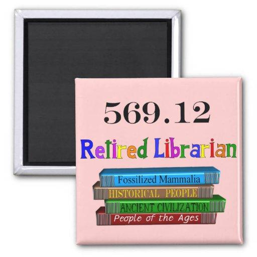 Retired Librarian 569.0 (Dewey Decimal System) Refrigerator Magnets