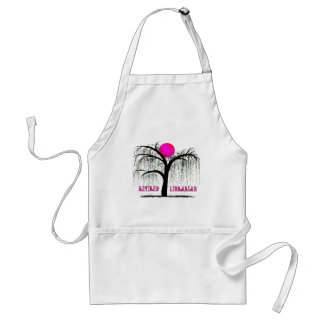 Retired Librarian Gifts Weeping Willow Design Standard Apron