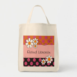 Retired Librarian Tote Daisies Tote Bag