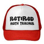 Retired Math Teacher Gift Hats