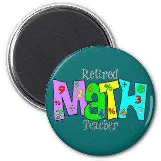 Retired Math Teacher Gifts 6 Cm Round Magnet