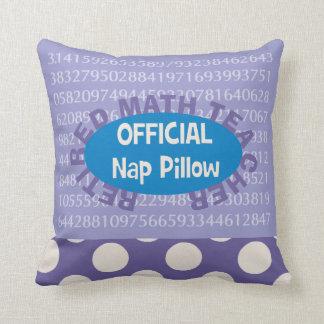 """Retired Math Teacher """"Nap Pillow"""" 20"""" X 20"""" Cushion"""