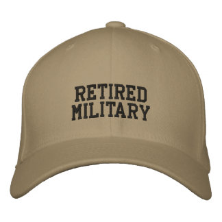 RETIRED MILITARY EMBROIDERED HATS